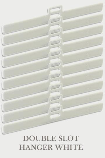 Double Slot Hanger White