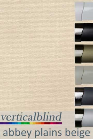 Abbey Plains Beige 89mm Vertical Blind