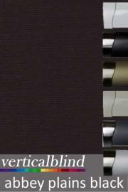 Abbey Plains Black 89mm Vertical Blind
