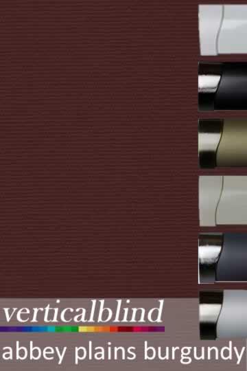 Abbey Plains Burgundy 89mm Vertical Blind