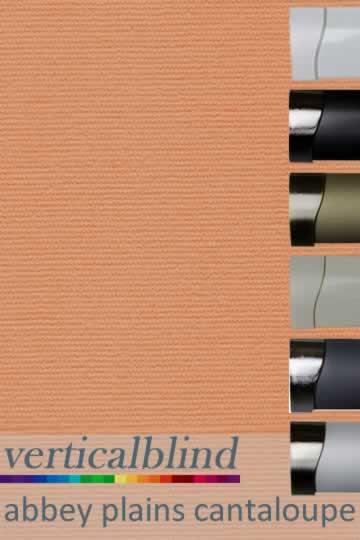 Abbey Plains Cantaloupe 89mm Vertical Blind