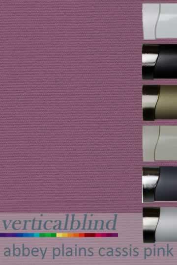 Abbey Plains Cassis Pink 89mm Vertical Blind