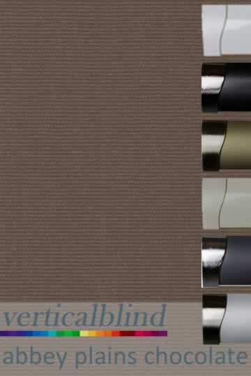 Abbey Plains Chocolate 89mm Vertical Blind