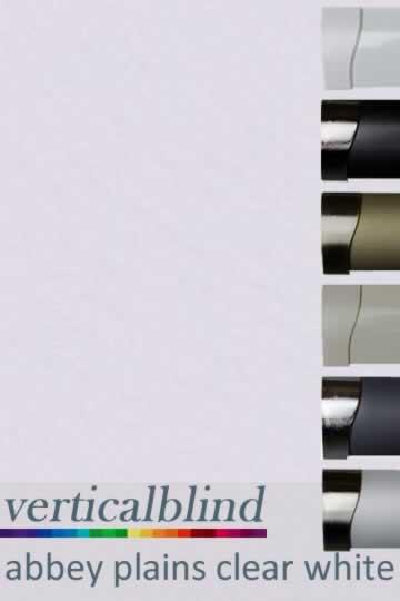 Abbey Plains Clear White 89mm Vertical Blind