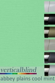 Abbey Plains Cool Mint 89mm Vertical Blind