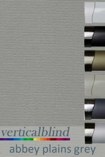Abbey Plains Grey 89mm Vertical Blind