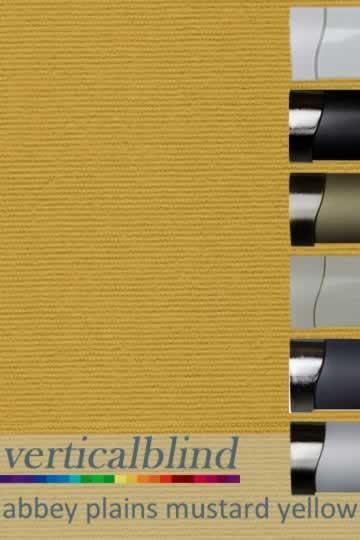 Abbey Plains Mustard Yellow 89mm Vertical Blind
