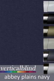 Abbey Plains Navy 89mm Vertical Blind