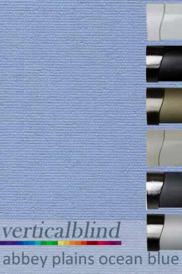 Abbey Plains Ocean Blue 89mm Vertical Blind