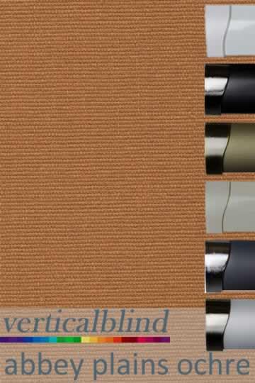 Abbey Plains Ochre 89mm Vertical Blind