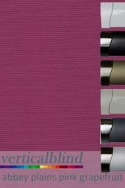 Abbey Plains Pink Grapefruit 89mm Vertical Blind