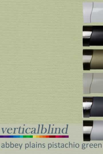 Abbey Plains Pistachio Green 89mm Vertical Blind
