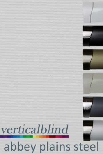Abbey Plains Steel 89mm Vertical Blind