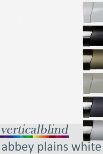 Abbey Plains White 89mm Vertical Blind