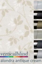 Alondra Antique Cream 89mm Vertical Blind