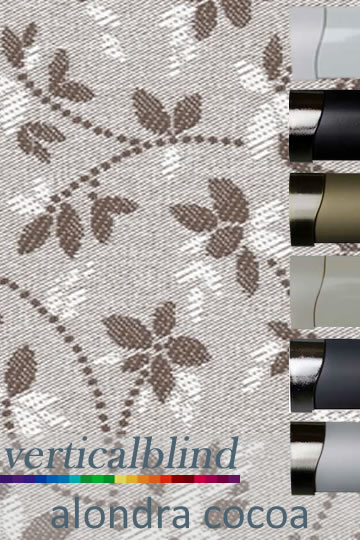 Alondra Cocoa Vertical Blind
