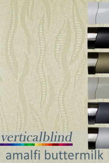 Amalfi Buttermilk 89mm Vertical Blind