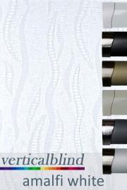 Amalfi White 89mm Vertical Blind