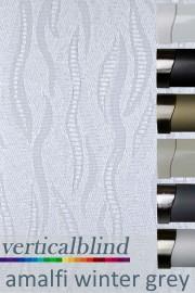 Amalfi Winter Grey 89mm Vertical Blind