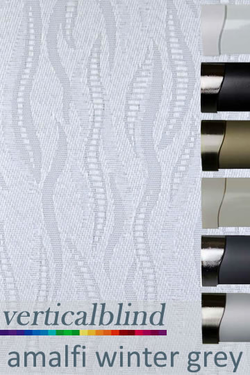 Amalfi Winter Grey Vertical Blind