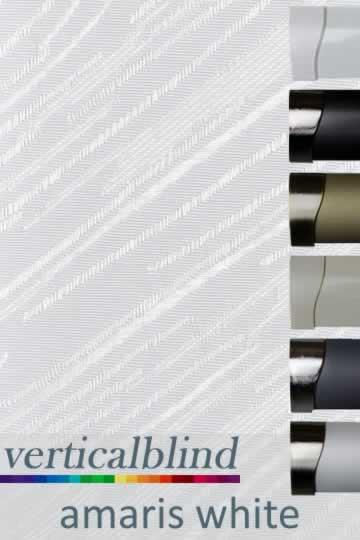 Amaris White 89mm Vertical Blind