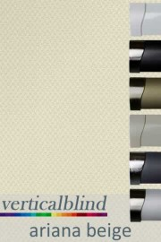 Ariana Beige 89mm Vertical Blind