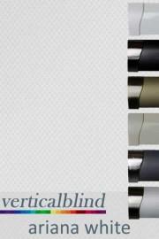Ariana White 89mm Vertical Blind