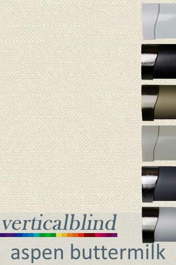 Aspen Buttermilk 89mm Vertical Blind