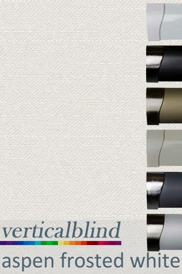 Aspen Frosted White Vertical Blind