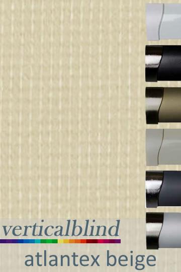 Atlantex Beige 127mm Vertical Blind