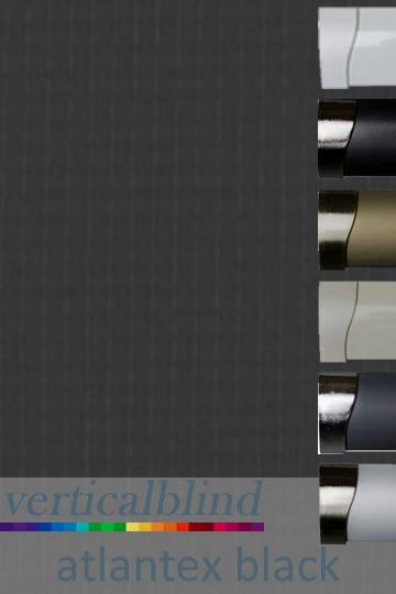 Atlantex Black 127mm Vertical Blind